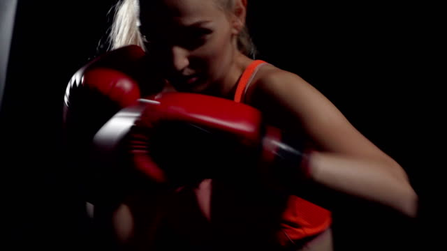 martial arts thai boxing - sports glove stock videos & royalty-free footage