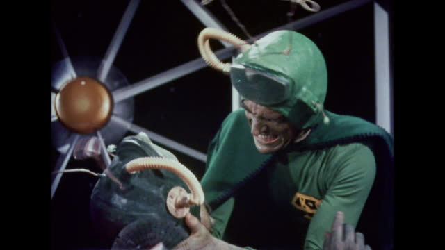 1964 martians fight on their spaceship - 1964 stock videos & royalty-free footage
