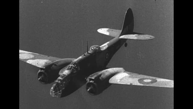 martin b26 bomber in air during world war ii / bomber drops payload 3 bombs / squadron in air / note exact day not known / [note film has nitrate... - explosive stock videos & royalty-free footage