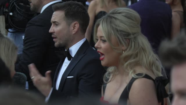 martin compston emily atack at the royal festival hall on may 12 2019 in london england - british academy television awards stock videos & royalty-free footage