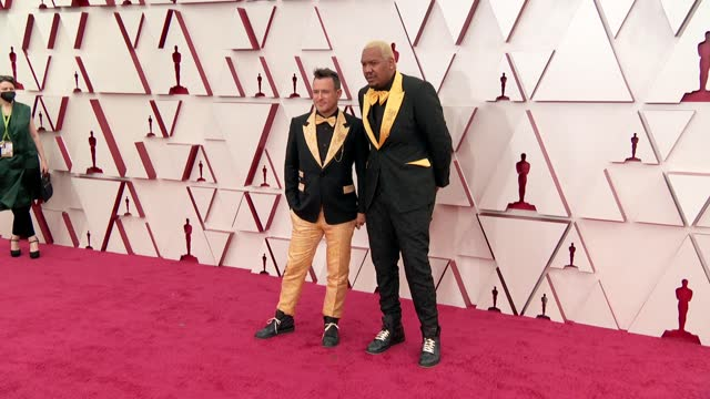 martin desmond roe, travon free at the93rd annual academy awards - arrivals onapril25, 2021. - academy awards stock videos & royalty-free footage