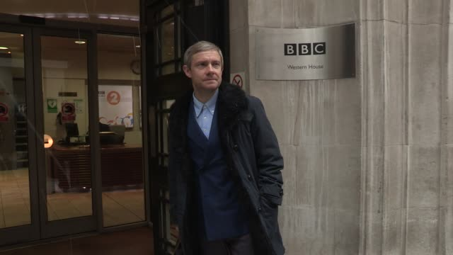 martin freeman at celebrity video sightings on march 13 2013 in london england - martin freeman stock videos and b-roll footage