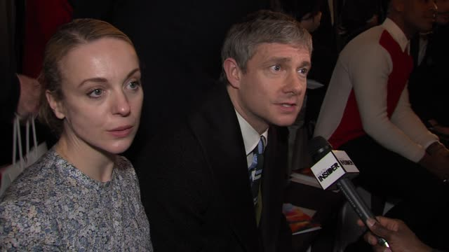 martin freeman at london collections men aw 2013 jonathan saunders catwalk show at the old selfridges hotel on january 08 2013 in london england - martin freeman stock videos and b-roll footage