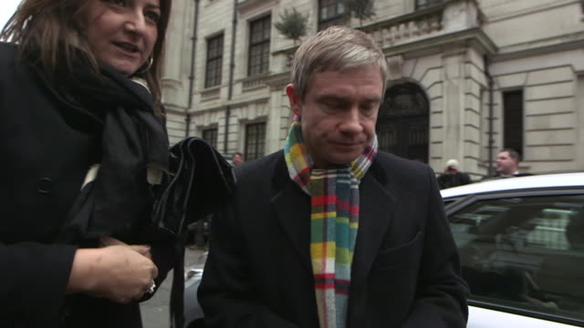 martin freeman at the jameson empire awards arrivals at grosvenor house on march 24 2013 in london england - martin freeman stock videos and b-roll footage