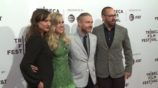 martin freeman ben howling yolanda ramke kristina ceyton at cargo special screening at the 2018 tribeca film festival at sva theater on april 19 2018... - martin freeman stock videos and b-roll footage