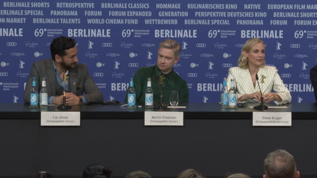 interview martin freeman diane kruger cas anvar yuval adler on similarities between actors and spies how impressive real spies are as people shooting... - martin freeman stock videos and b-roll footage