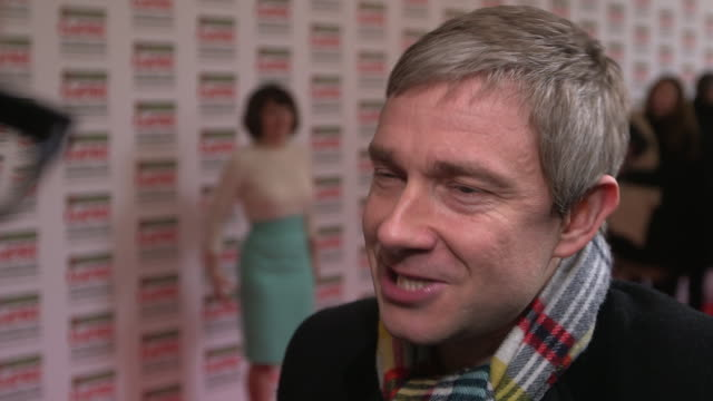 interview martin freeman on being nominated being at the awards his current projects at the jameson empire awards arrivals at grosvenor house on... - martin freeman stock videos and b-roll footage