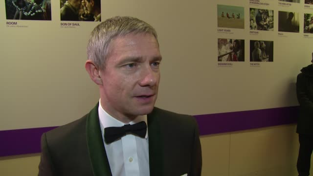 interview martin freeman on bond current work and the labour party at banqueting house on october 17 2015 in london england - martin freeman stock videos and b-roll footage