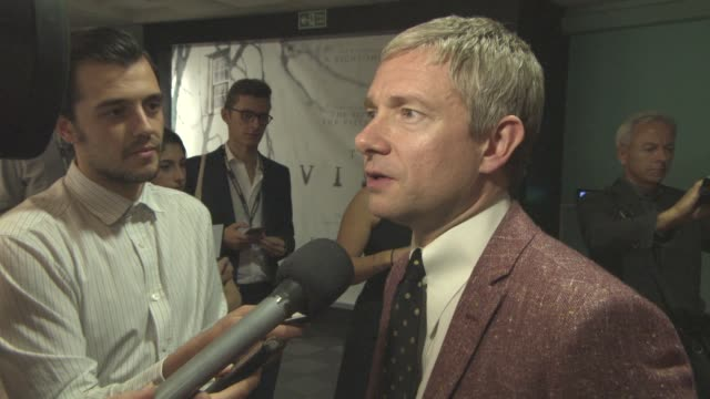 interview martin freeman on filming the 'sherlock' christmas special the fans perception of sherlock holmes's and john watson's relationship how his... - martin freeman stock videos and b-roll footage