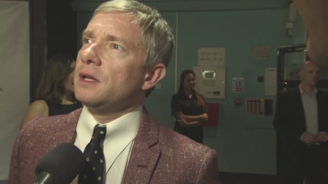 interview martin freeman on his fan base which fan base is more obsessive being on set filming the new marvel film at raindance film festival... - obsessive stock videos & royalty-free footage