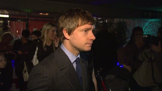 martin freeman on his research for the film how fun it was to make the movie and working with children at the nativity london premiere at london... - martin freeman stock videos and b-roll footage