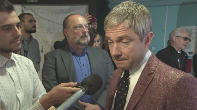 interview martin freeman on jeremy corbyn what the future would hold with jeremy corbyn being prime minister at raindance film festival newcomer... - martin freeman stock videos and b-roll footage