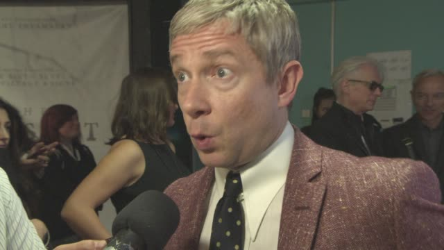 interview martin freeman on what audiences can expect from the next series of 'sherlock' what makes benedict cumberbatch so special at film festival... - martin freeman stock videos and b-roll footage