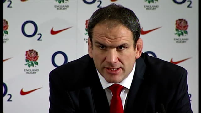 martin johnson resigns as england coach; england: london: twickenham: int **beware flash photography** martin johnson and rob andrew at press... - 12 13 years stock videos & royalty-free footage