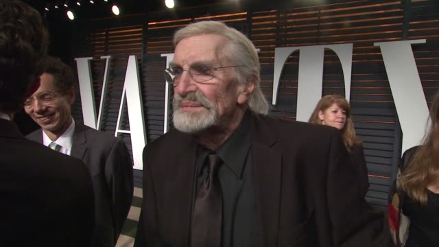 martin landau at the 2015 vanity fair oscar party hosted by graydon carter at wallis annenberg center for the performing arts on february 22, 2015 in... - oscar party stock videos & royalty-free footage