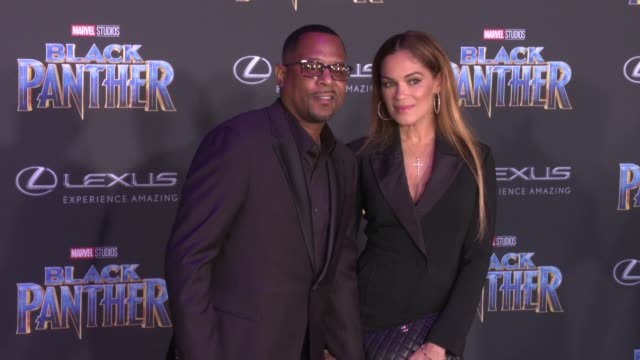Martin Lawrence and Roberta Moradfar at the Marvel Studios' 'Black Panther' World Premiere at Dolby Theatre on January 29 2018 in Hollywood California