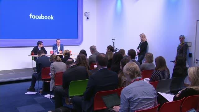 martin lewis drops facebook legal action over scam adverts england int various of martin lewis speaking at press conference steve hatch alongside - northern europe stock videos & royalty-free footage
