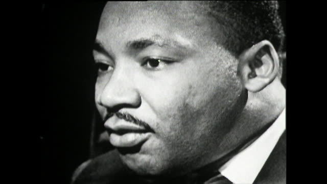 """martin luther king explains his belief in the american dream and his belief in achieving equality for all and ending racism; 1961. """"...my work is... - unity stock videos & royalty-free footage"""