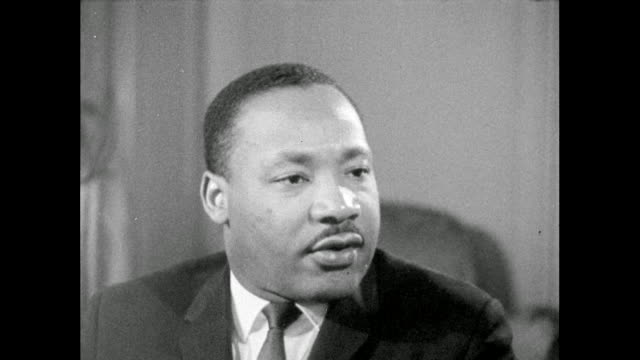 martin luther king explains that he is convinced that nonviolence is possible when seeing progress but when progress isn't made, despair may lead to... - rebellion stock videos & royalty-free footage