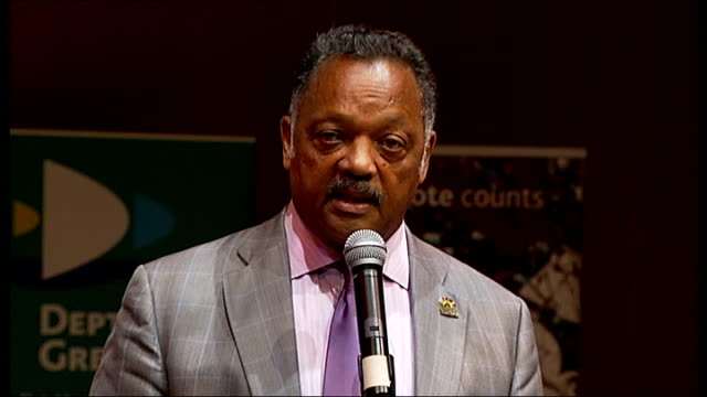 martin luther king i have a dream speech 50th anniversary jesse jackson visits deptford school reverend jesse jackson speech sot - martin luther religious leader stock videos & royalty-free footage