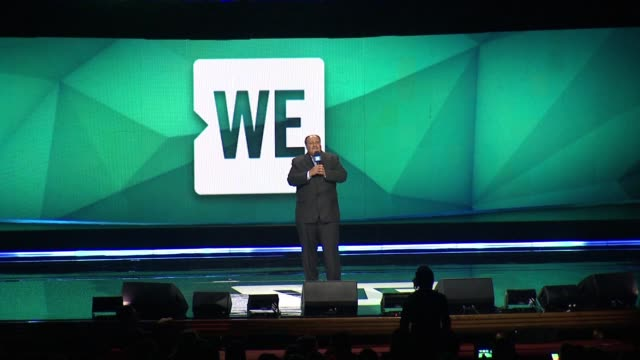 martin luther king iii at we day new york welcome to celebrate young people changing the world at radio city music hall on april 06, 2017 in new york... - radio city music hall stock-videos und b-roll-filmmaterial