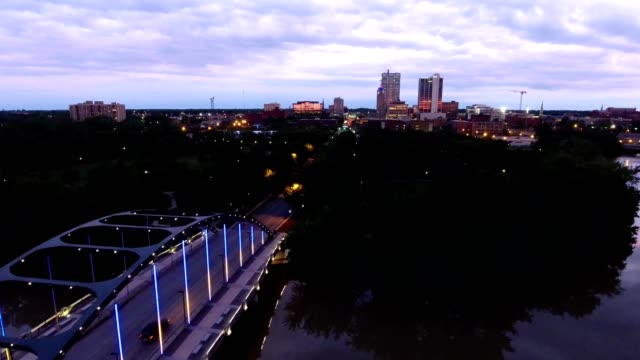 martin luther king jr. bridge of fort wayne, in - indiana stock videos & royalty-free footage