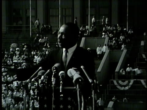 wgn martin luther king jr declares 'now is the time to cure cancer of racial segragation' at the illinois i have a dream civil rights rally at... - equality stock videos & royalty-free footage