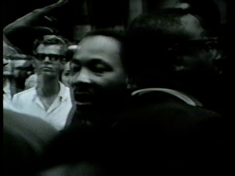wgn martin luther king jr leads march from grant park to downtown chicago on july 26 1965 - martin luther king stock videos and b-roll footage