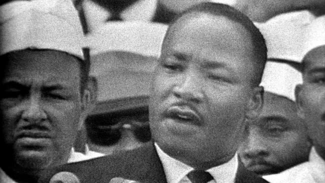 "martin luther king jr making his 'i have a dream' speech during the civil rights march on washington / audio: ""i have a dream that one day this... - 1963 stock videos & royalty-free footage"