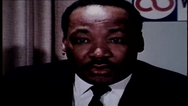 wgn martin luther king jr on tackling poverty in chicago on february 5 1968 - 1968 stock videos & royalty-free footage