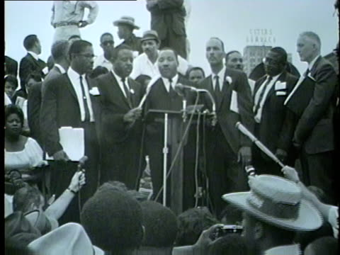 wgn martin luther king jr talks about relationship between the south and chicago during a speech in grant park on july 26 1965 - speech stock videos & royalty-free footage