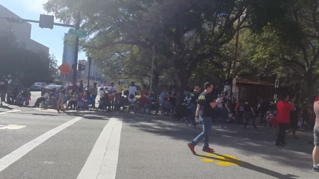 martin luther king parade downtown jacksonville martin luther king parade downtown jacksonville florida martin luther king parade downtown... - jacksonville florida stock videos and b-roll footage