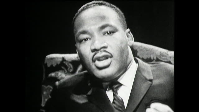 """martin luther king recalls his experience of segregated buses in montgomery, alabama; 1961. """"...the first ten seats were reserved for whites only and... - pastor stock videos & royalty-free footage"""