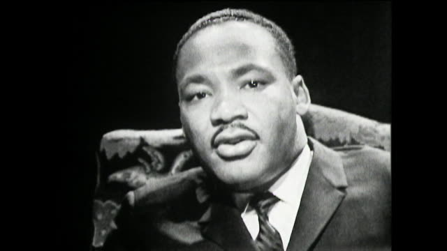 martin luther king recalls the story of rosa parks, her stance against segregated buses in montgomery, alabama, the resulting bus boycott, how became... - pastor stock videos & royalty-free footage