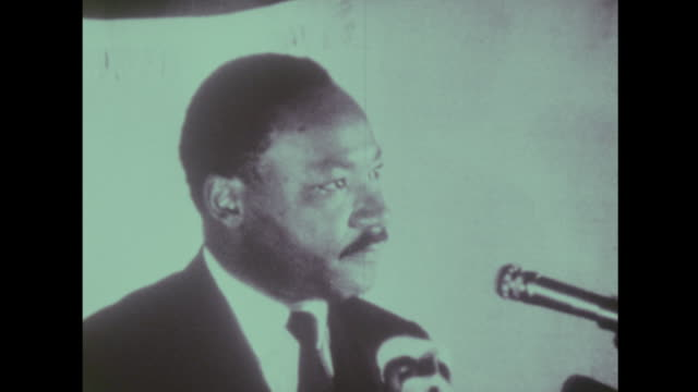 martin luther king says he won't segregate his moral concerns - martin luther king stock videos and b-roll footage
