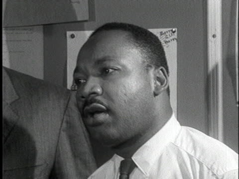 martin luther king says that black voters nationwide will reject republican nominee barry goldwater. - nominee stock videos & royalty-free footage