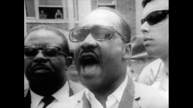 "martin luther king, speaking alongside ralph abernathy in mississippi, philadelphia after freedom marchers were attacked by white people; ""...we want... - organisation stock videos & royalty-free footage"
