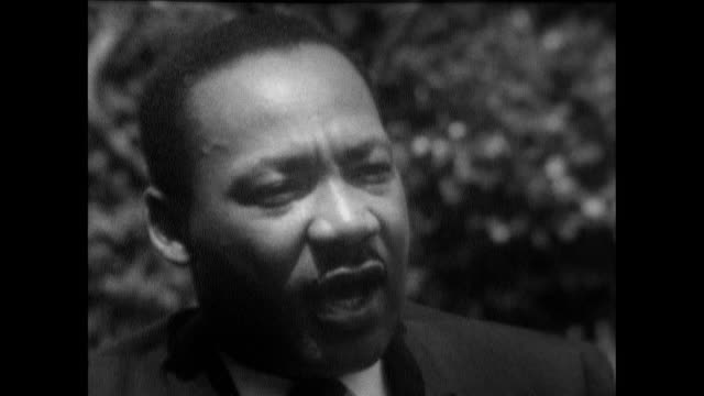 martin luther king, speaking in cleveland, ohio, on how rioting can be counterproductive but is also an expression of frustration and anger at a lack... - 1967 stock videos & royalty-free footage