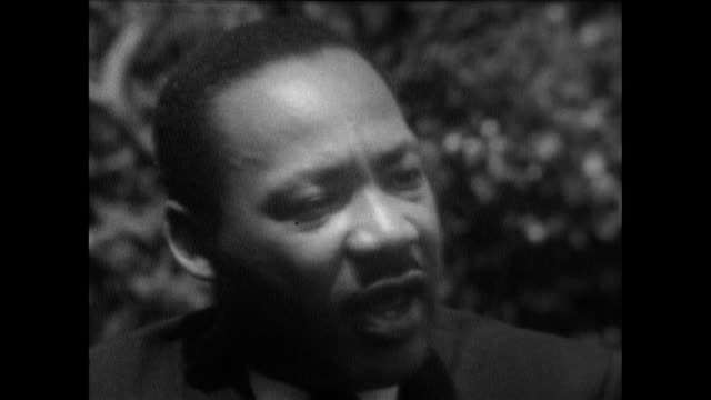 martin luther king, speaking in cleveland, ohio, on how rioting doesn't help to bring progress and positive change in the civil rights movement:... - 1967 stock videos & royalty-free footage