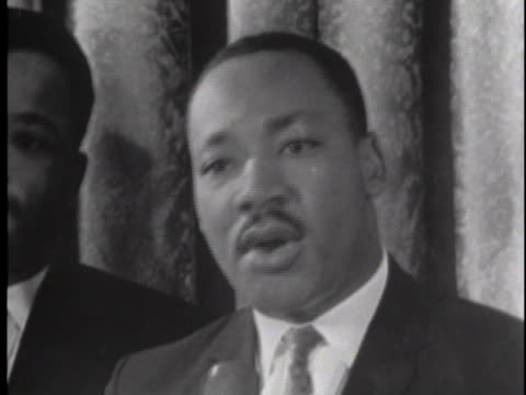 martin luther king speaks about racial segregation - racial segregation stock videos & royalty-free footage