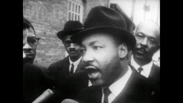 martin luther king speaks about the need to change the constitution around the voting rights for african american citizens after being released from... - 1965 stock videos & royalty-free footage