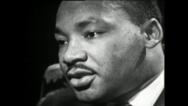 martin luther king talks about his father as a baptist pastor and his involvement in the civil rights movement he has had a strong interest in civil... - baptist stock videos & royalty-free footage