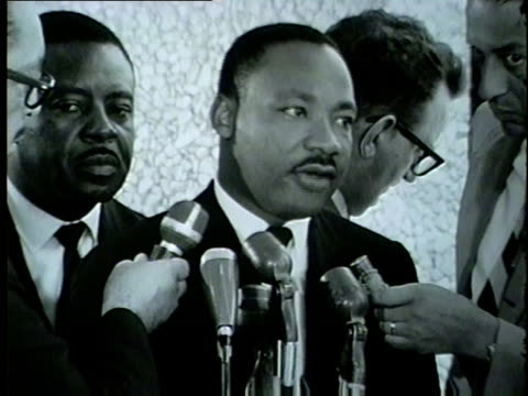 WGN Martin Luther King talks About what he anticipates Mayor Daley's Response to be to the Civil Rights March from Grant Park to downtown Chicago in...