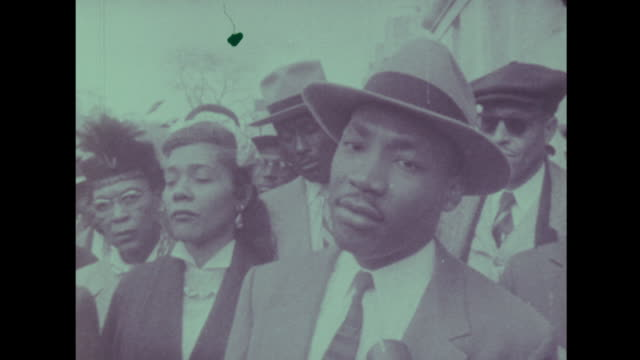 martin luther king tells the media that his movement will use nonviolent protest - martin luther king stock videos and b-roll footage