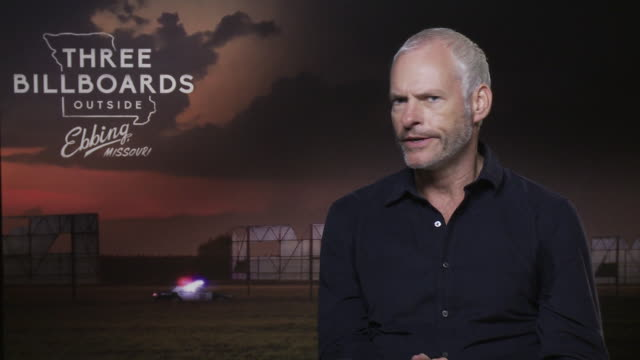 martin mcdonagh on working with peter dinklage, venice film festival at 'three billboards outside ebbing, missouri' interviews - 74th venice... - 74th venice film festival stock videos & royalty-free footage