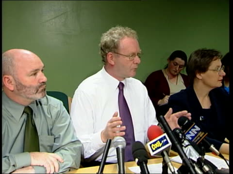 martin mcguinness mla press conference sot - of all the mistakes that have been made thru course of last 3 years in good friday agreement process,... - participant stock videos & royalty-free footage