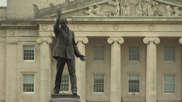 martin mcguinness resignation likely to result in a snap election in northern ireland northern ireland belfast stormont parliament buildings ext... - martin mcguinness stock videos and b-roll footage