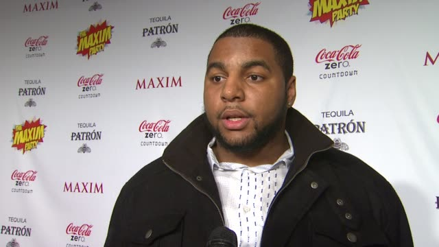 martin parker on what brings him out the the maxim super bowl party how he feels going into the big game whether it will be a close game what super... - paul mitchell stock videos and b-roll footage