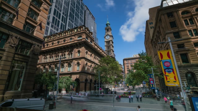 martin place - torre struttura edile video stock e b–roll