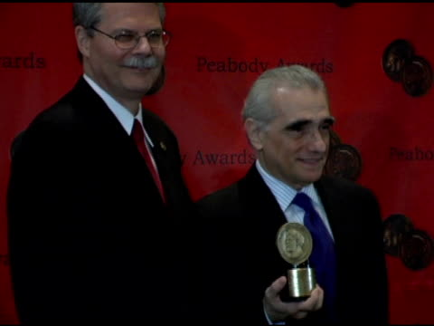 martin scorcese and horace newcomb at the 65th annual peabody awards at the waldorf astoria hotel in new york, new york on june 5, 2006. - waldorf astoria new york stock videos & royalty-free footage